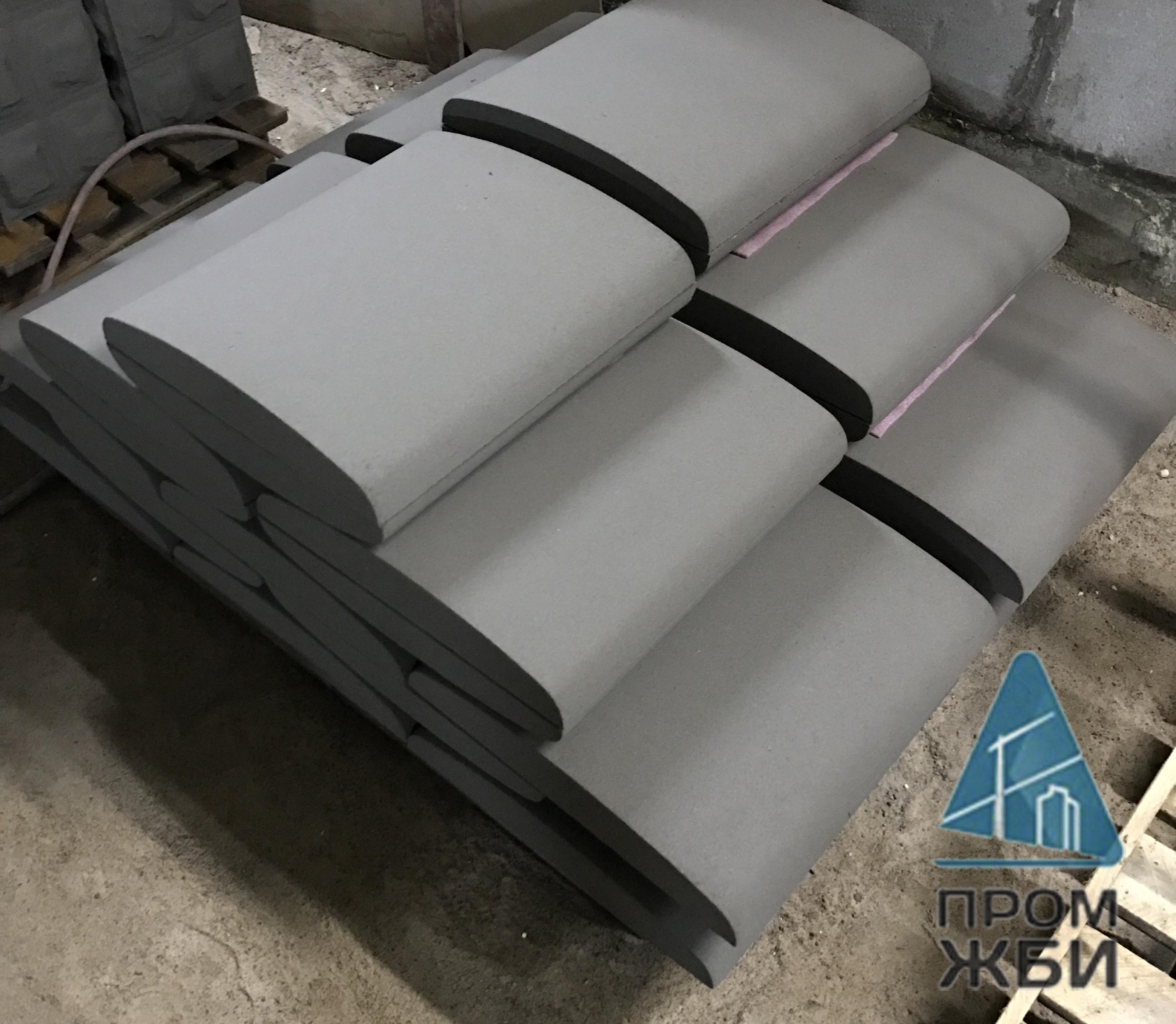 купить парапетные крышки из бетона